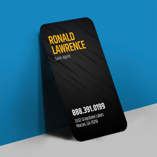 Velvet Soft Touch Business Cards | Velvet Soft Touch Business Card Rounded Corner Vertical Real Estate | PrintMagic