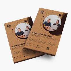 Brown Kraft Sales Sheet | Brown Kraft Sales Sheet Printing | Brown Kraft Sales Sheet With Print Side Front & Back And Thick Brown Kraft Uncoated Paper Stock | Print Magic