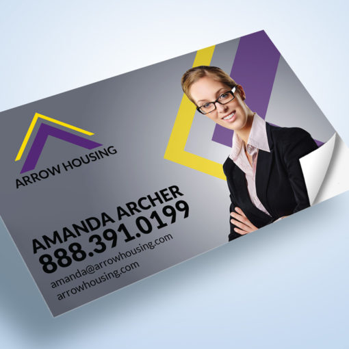 Business Card Stickers | Business Cards Stickers Real Estate Agent Card Stick On | PrintMagic