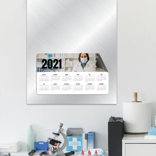 Magnetic Calendars | Horizontal All Rounded Corners shape printed front side with 17 pt. Magnetic Stock and UV coating front side health care magnetic calendar | PrintMagic