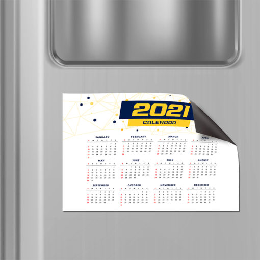 Magnetic Calendars | Horizontal Rectangle shape printed front side with 17 pt. Magnetic Stock and UV coating front side magnetic calendar | PrintMagic