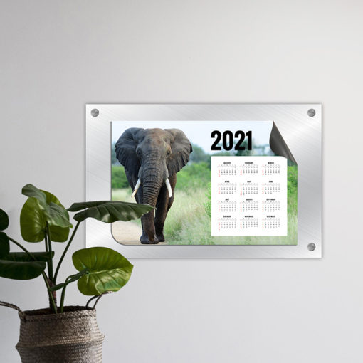 Magnetic Calendars | Horizontal Two Opposite Rounded Corners shape printed front side with 17 pt. Magnetic Stock and UV coating front side magnetic calendar | PrintMagic