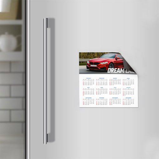Magnetic Calendars With 17pt. Magnetic Stock And No Coating And printed on Color Front Only