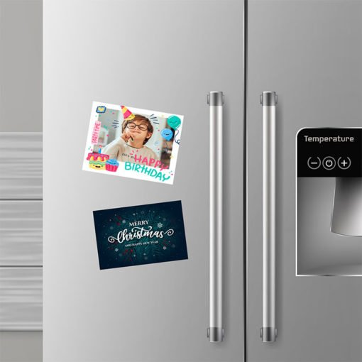 Refrigerator Magnets 17pt. Magnetic Paper Stock And Color Print Side Front With UV Coating and Long-lasting, durable Magnets with your custom design