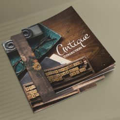 Art Booklets | antique collection Booklets with Saddle-Stitched (Stapled) with Standard Gloss Text-100lb and Aqueous Coating| Print Magic