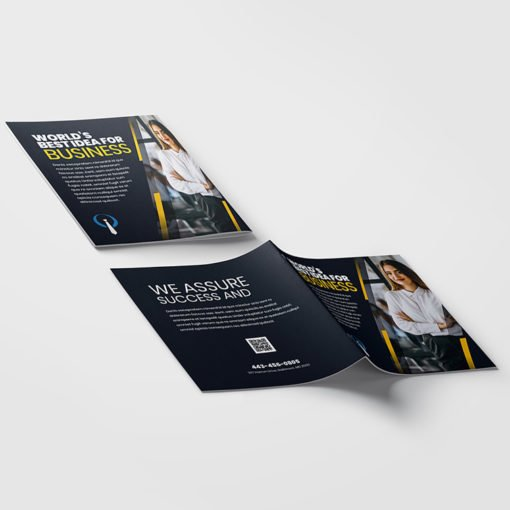 Custom Booklets | Business Corporate Horizontal Saddle-Stitched Binding Booklets with White Premium Opaque Paper Stock and Aqueous Coating | Print Magic