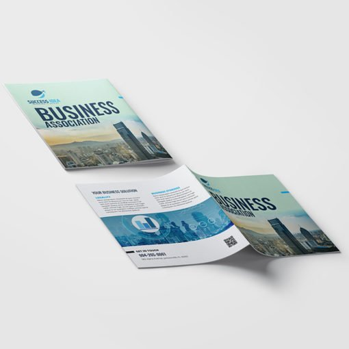 Short Run Booklets | Business Corporate Horizontal Saddle-Stitched Binding Booklets with White Premium Opaque Paper Stock and No Coating | Print Magic