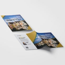Bulk Booklets | Booklet-Real-Estate Horizontal Perfect Binding Booklets with White Premium Opaque Paper Stock and No Coating | Print Magic