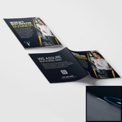 Saddle Stitched Booklets | Business Corporate Horizontal Saddle-Stitched Binding Booklets with White Premium Opaque Paper Stock and No Coating | Print Magic