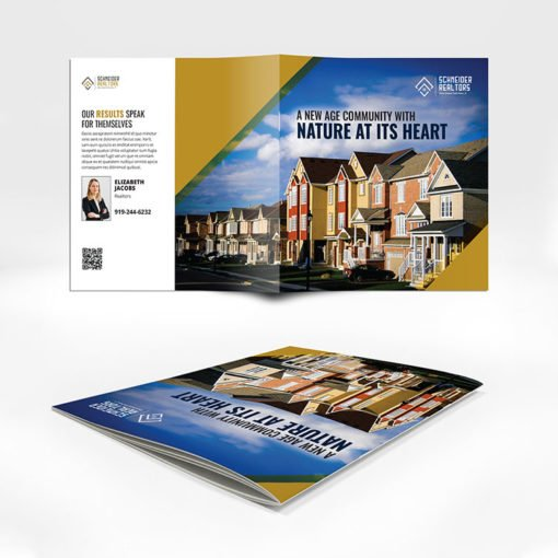 Saddle Stitched Booklets | Real Estate Horizontal Saddle-Stitched Binding Booklets with Standard Gloss Paper Stock and No Coating | Print Magic