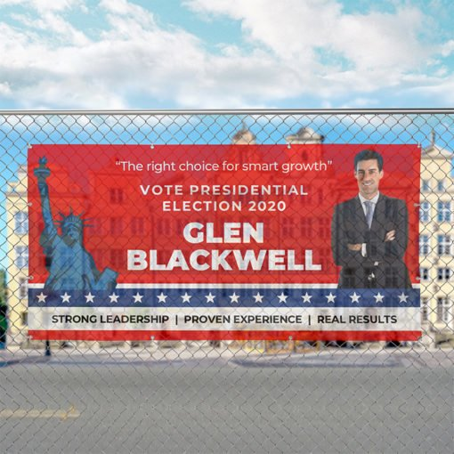 Mesh Banners | Mesh Banners Political Campaign 2020 |Vote Presidential election 2020 | The right choice for smart growth| Print Magic