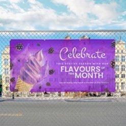 Mesh Banners | Celebrate Crackers food festival | Print Magic