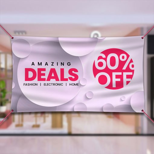 Vinyl Banner Indoor | Amazing Deals indoor banner | Print Magic