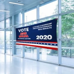 Vinyl Banner Indoor | Vote Presidential election 2020 | Strong leadeership proven experience real reuslts | Print Magic