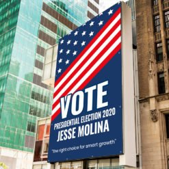 Vinyl Banner Outdoor | Vote Presidential election 2020 | The right choice for smart growth| Print Magic