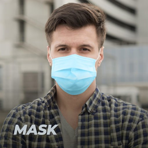 COVID Protection Safety Three Layer Mask with dust preventionan and sterilization | Well and Safety | PrintMagic