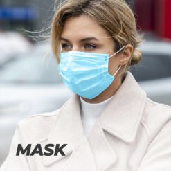 COVID Protective Safety Three Layer Mask with splash resistance and less risk of contamination | Well and Safety | PrintMagic