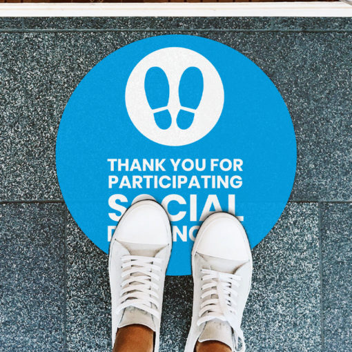 Custom Floor Graphics | Circle Decals printed side front only with Vinyl Floor Graphic - 4 mil. material safety Floor Graphics Decals | PrintMagic