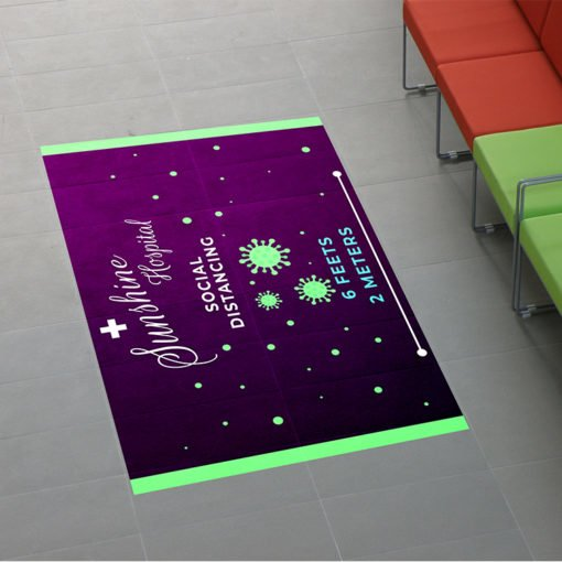Custom Floor Graphics | Hospital Floor Graphics Designs | Printed on Color Front Only with Vinyl Floor Graphic - 4 mil. | Print Magic