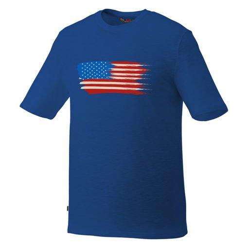 Custom Printed Men's Basic Short Sleeve Colored T-shirt - Blue