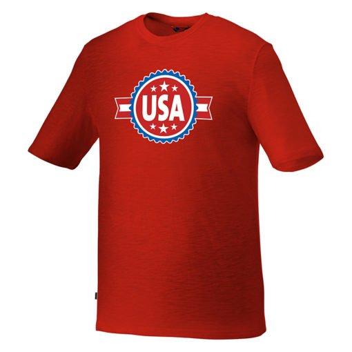 Custom Printed Men's Basic Short Sleeve Colored T-shirt - Red