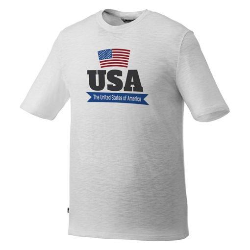Custom Printed Men's Basic Short Sleeve Colored T-shirt - White