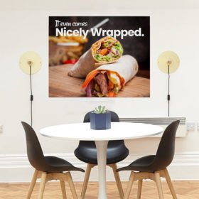 Repositionable Wall Decals | Wall Decal restaurant theme food quality printing | Printed on Color Front Only with Opaque Adhesive - 8 mil | Print Magic