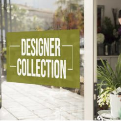 White Window Decals | White Window Decal Florist | Printed on Color Front Only with White Static Cling - 7 mil | Print Magic