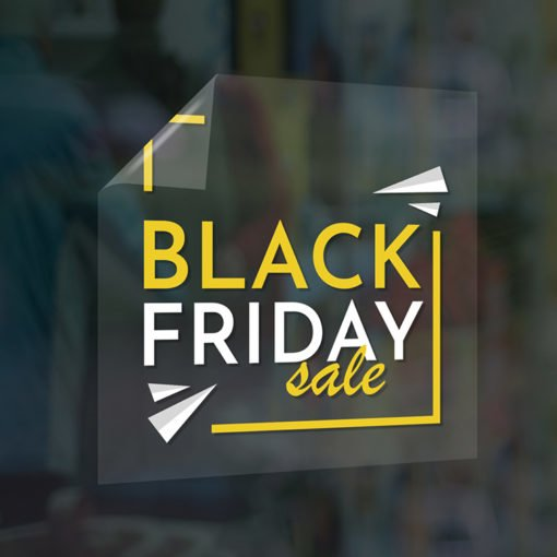 Clear Window Clings | Window Clings Black Friday Sale| Printed on Front Only With White Mask with Clear Static Cling - 8 mil | Print Magic