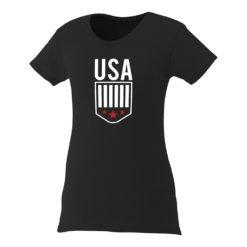 Custom Printed Ladies Premium Short Sleeve Colored T-shirt | Black
