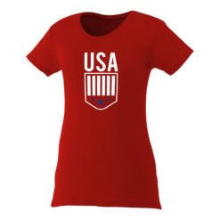 Custom Printed Ladies Premium Short Sleeve Colored T-shirt | Red