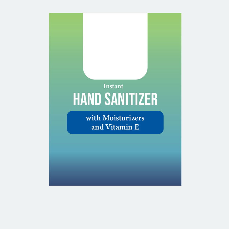 Free design template download for printing - 3x4 Labels Hand Sanitizer