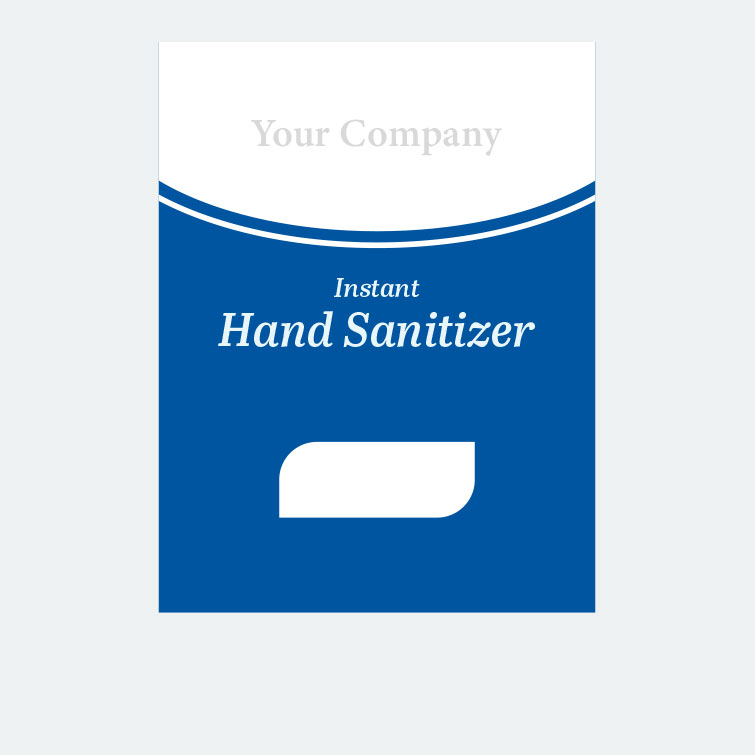 Free design template download for printing - 3x4 Labels Hand Sanitizer Simple