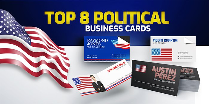 Top 8 Political Business Cards to Get You More Votes   Print Magic