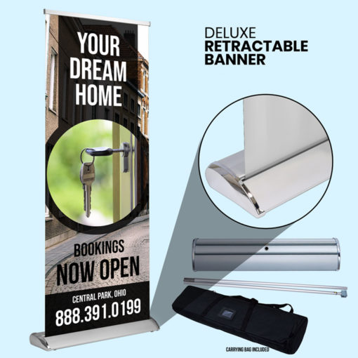 Retractable Deluxe Banner Printing at PrintMagic