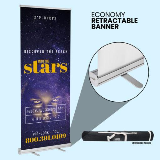 Retractable Economy Banner Printing at PrintMagic