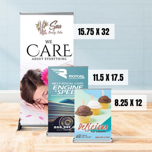 Real Estate and Educational Table Top Banner Printing at PrintMagic