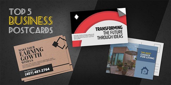 Top 5 Business Postcard Design Types Feature Image   Print Magic