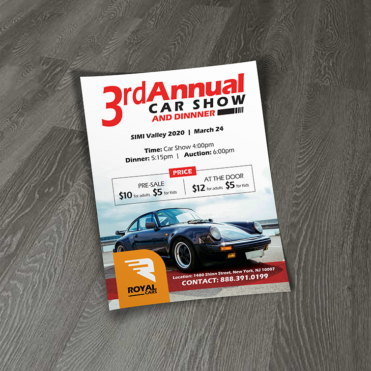 Automotive Business Flyers | full-color printing with your custom design And Flat or folded flyer options | Print Magic