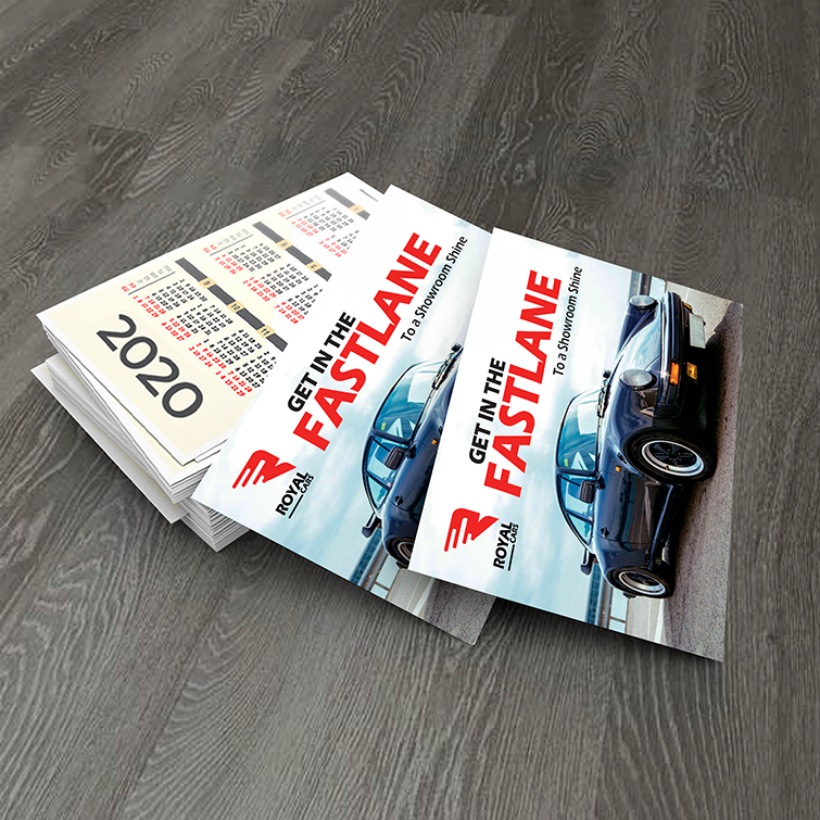 Automotive Card Calendars | Gloss and Matte Paper Stock With UV caoting Perfect for any occasion | Print Magic