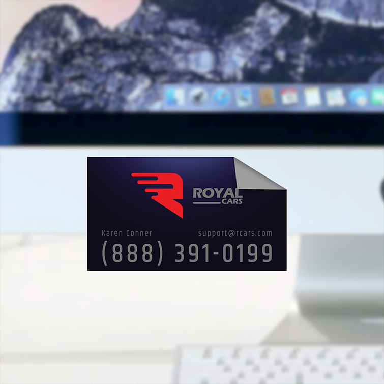 Automotive Business Card Magnets | Full-color, fade-resistant printing on the front With Strong magnetic coating at the back | Print Magic