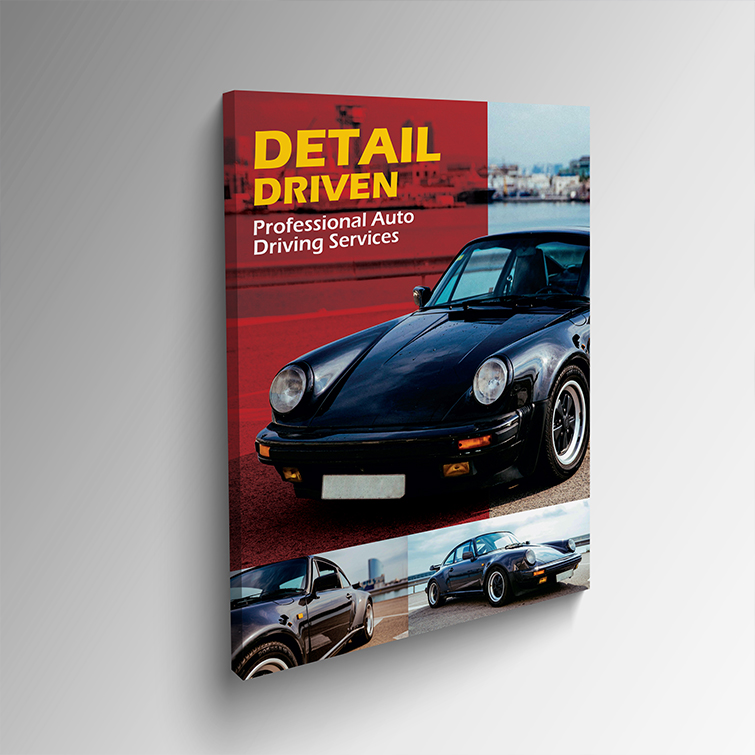 Automotive Mounted Canvas Prints | Artist Canvas Banner 17 mil With Gallery Wrap Proffesionl Auto Drive Service Mounted Canvas Prints | Print Magic
