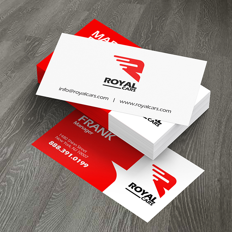Automotive Standard Business Cards | Print on Glossy paper stock for a shiny and professional feel With UV, Matte, and Aqueous coating to pick from | Print Magic