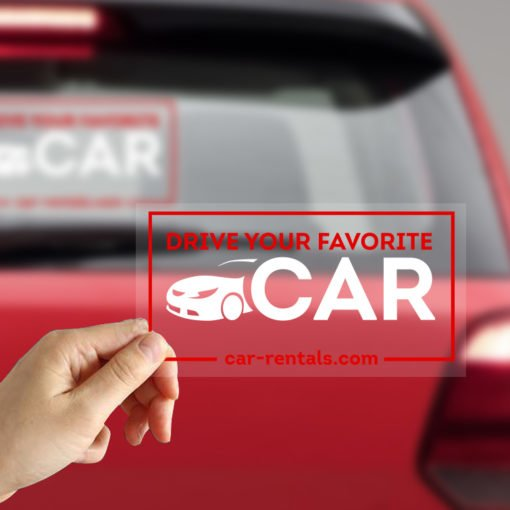 Car Window Clear Decal | Clear Static Cling 8mil color On Front Side Clear Vehicle Decals | Print Magic