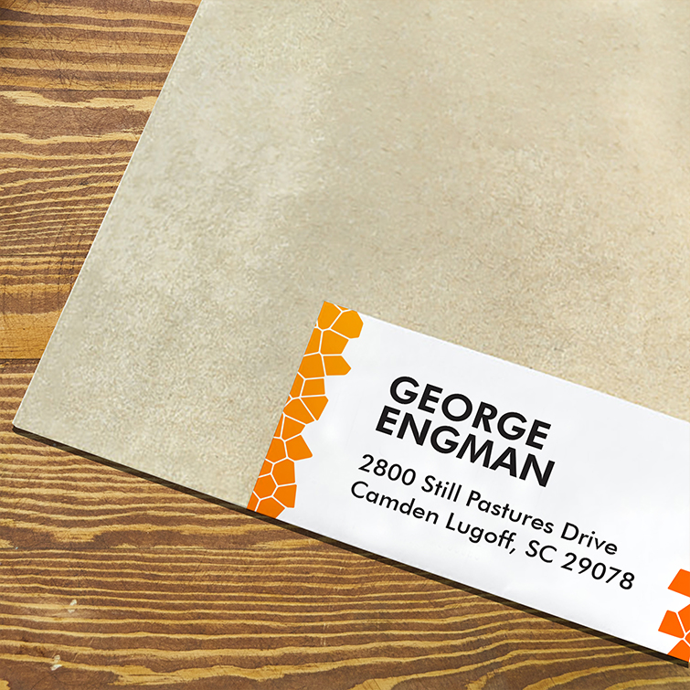 Church Address labels | Custom or standard shapes to create attractive address labels and Sharp, high-quality printing to highlight your logo | Print Magic