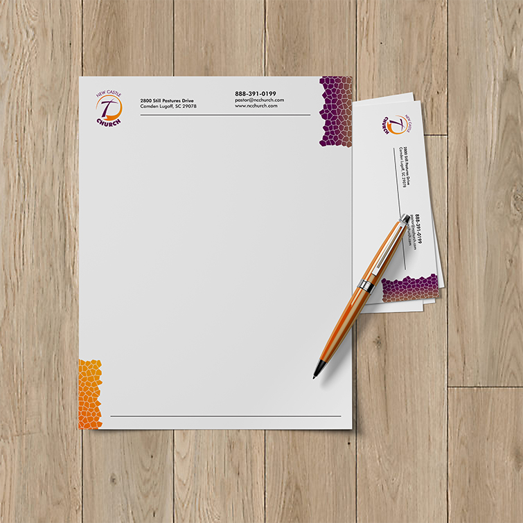 Church Letterheads | White Linen Uncoated or White Premium Opaque paper stock and Create an official format for professional correspondence | Print Magic