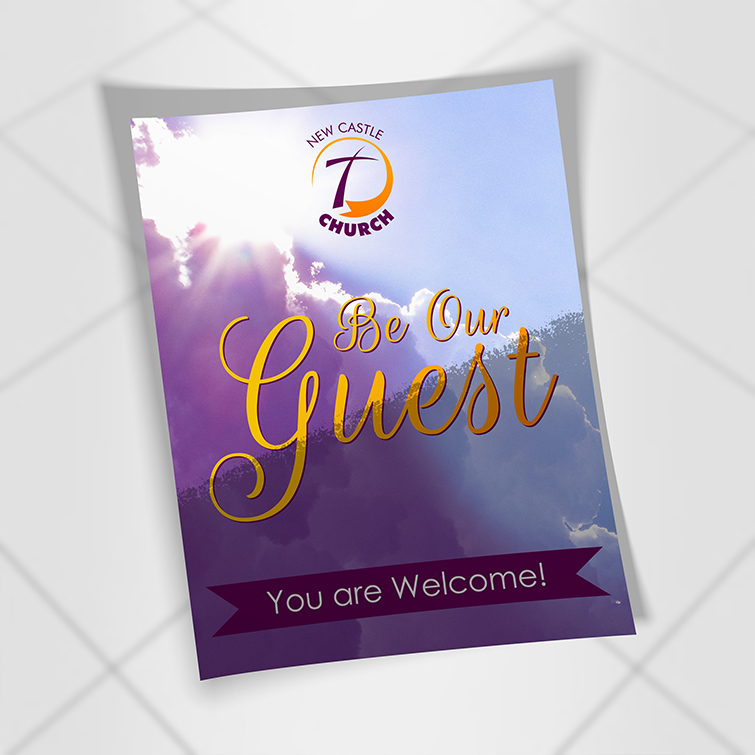 Church Silk Invitation cards | Get matching sized Premium Gloss paper envelopes and Shiny and high-gloss look with a smooth texture | Print Magic