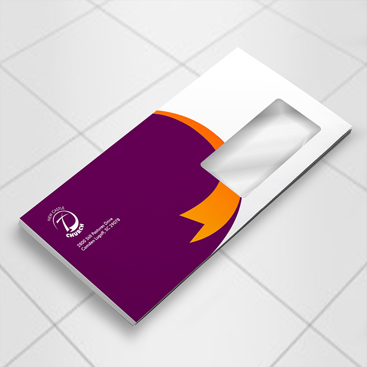 Church window envelopes | Perfect tool to send out invoices or statement mailers and Envelopes can be self-sealed or standard glue sealed | Print Magic