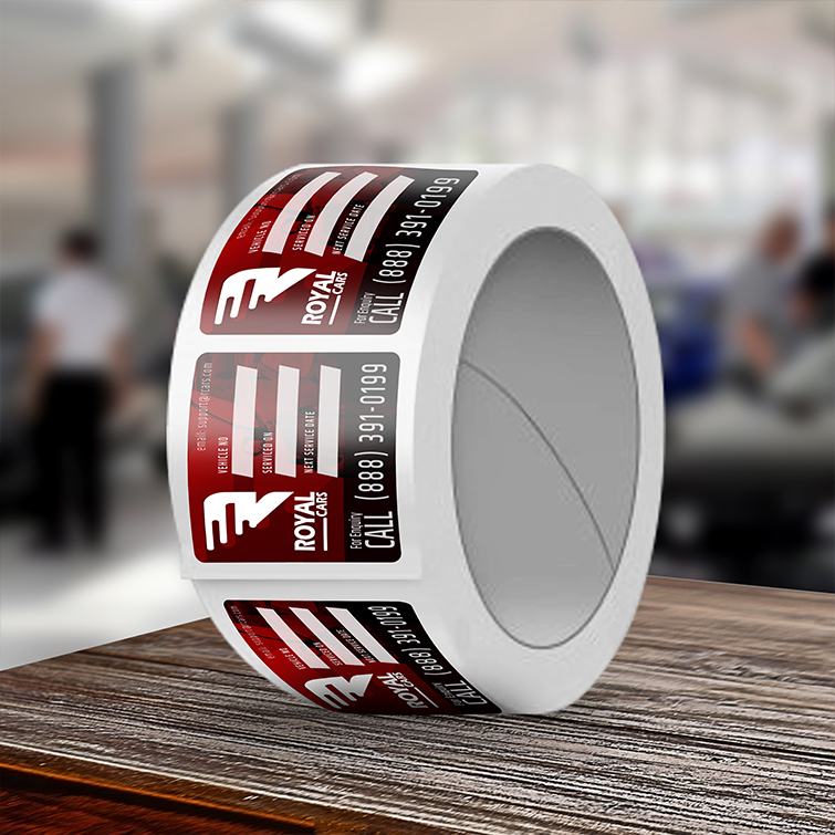 Automotive Custom Labels | Clear, metallic, white, glossy or textured paper stock With Glossy or Silk lamination And Full-color, bright printing on the front | Print Magic