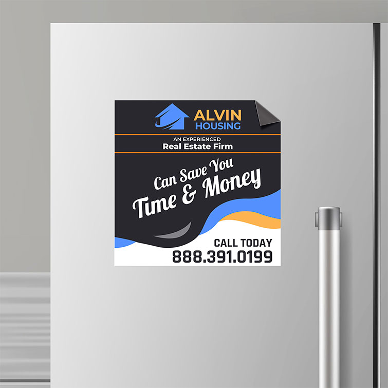 Real Estate Custom Magnets | Real Estate Custom Magnets with Strong and durable Magnets that stay in place and Full-color printing with custom design | Print Magic